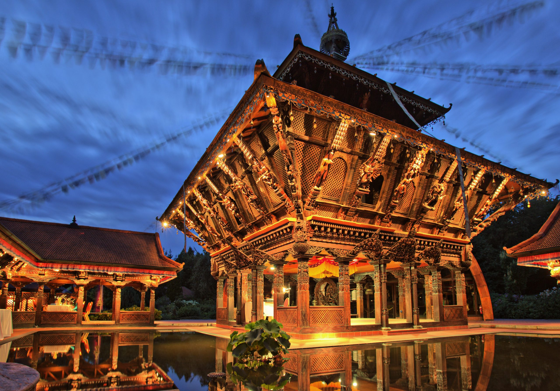 Konzert im Nepal-Himalaya-Pavillon